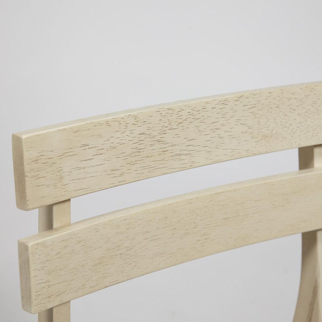 Стул для кухни CT 8805  Fes с мягким сиденьем дерево гевея, 53,5*47,5*76,5см, античный белый, ткань бежевая (FG22616-16)