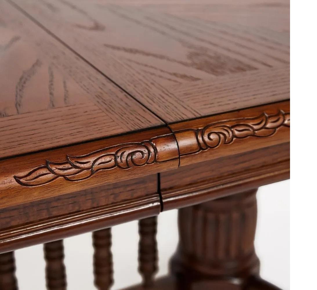 Стол обеденный овальный раскладной Oakland -SWC- (4296-SWC) HN GLAZE (13017)