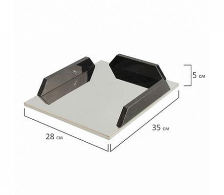 Набор настольный GALANT из мрамора, 9 предметов, черный мрамор/серебристые металлические детали, 231193
