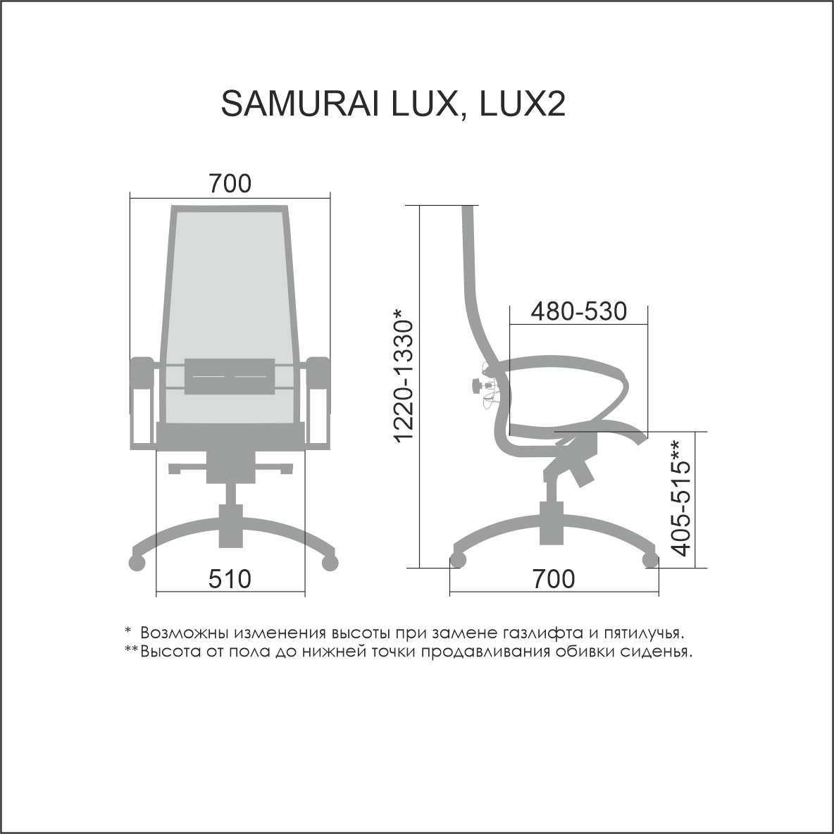 Кресло руководителя Samurai Lux, коричневый