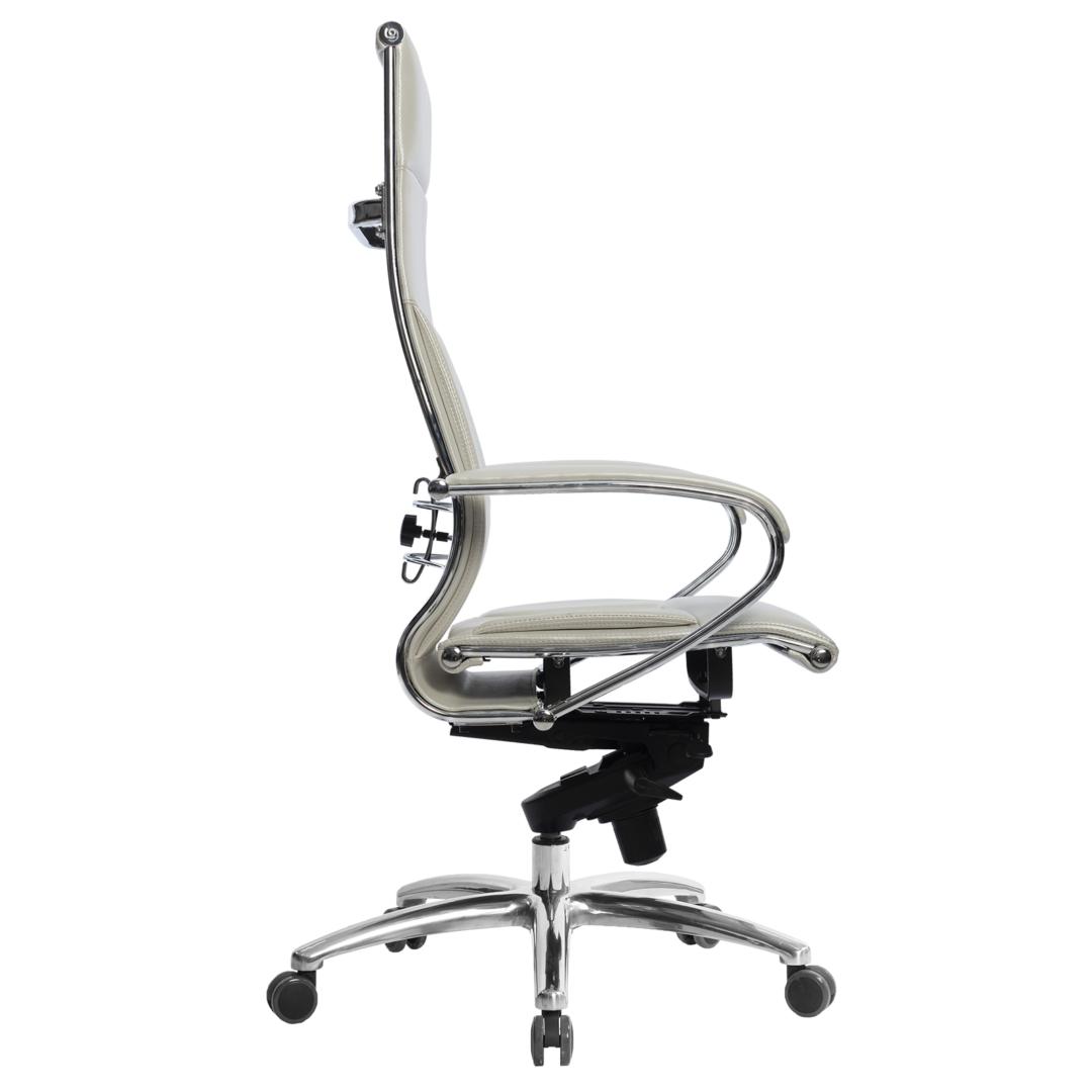 Кресло руководителя Samurai Lux, белый лебедь