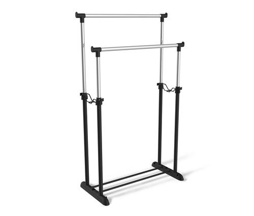 Вешалка для плечиков SHT-WR4150, 1615х860х440 мм, пластик/металл, черная/хром