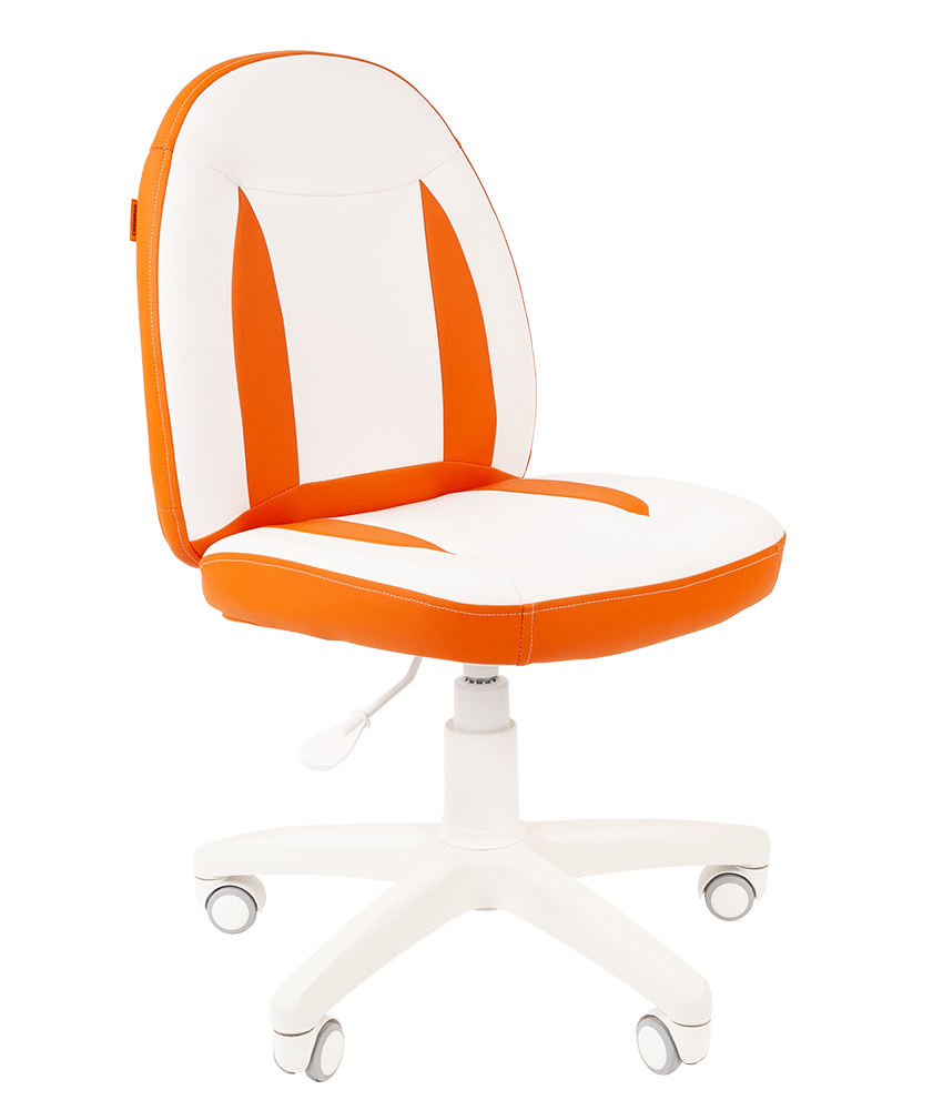 Детское компьютерное кресло CHAIRMAN KIDS 122, белый\оранжевый