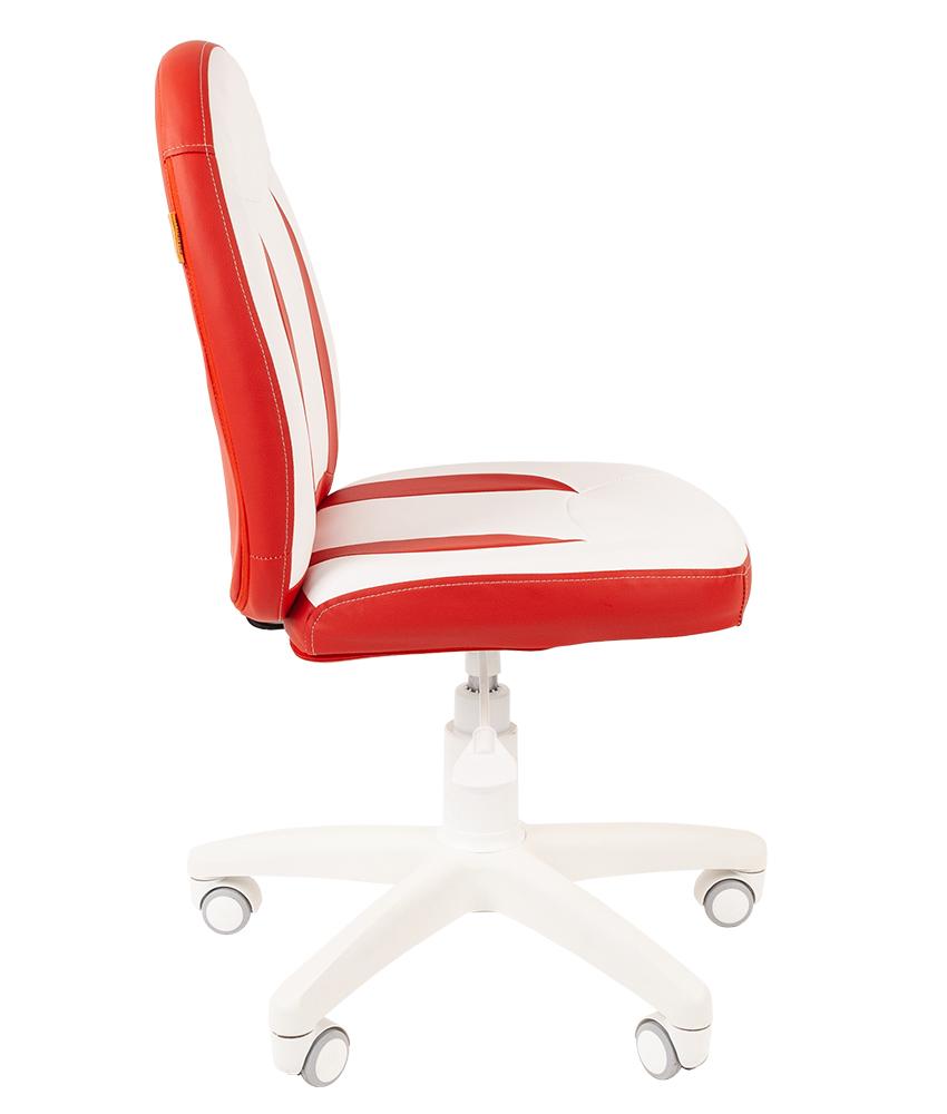 Детское компьютерное кресло CHAIRMAN KIDS 122, белый\красный