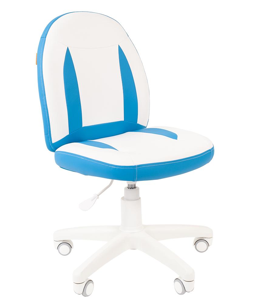 Детское компьютерное кресло CHAIRMAN KIDS 122, белый\голубой