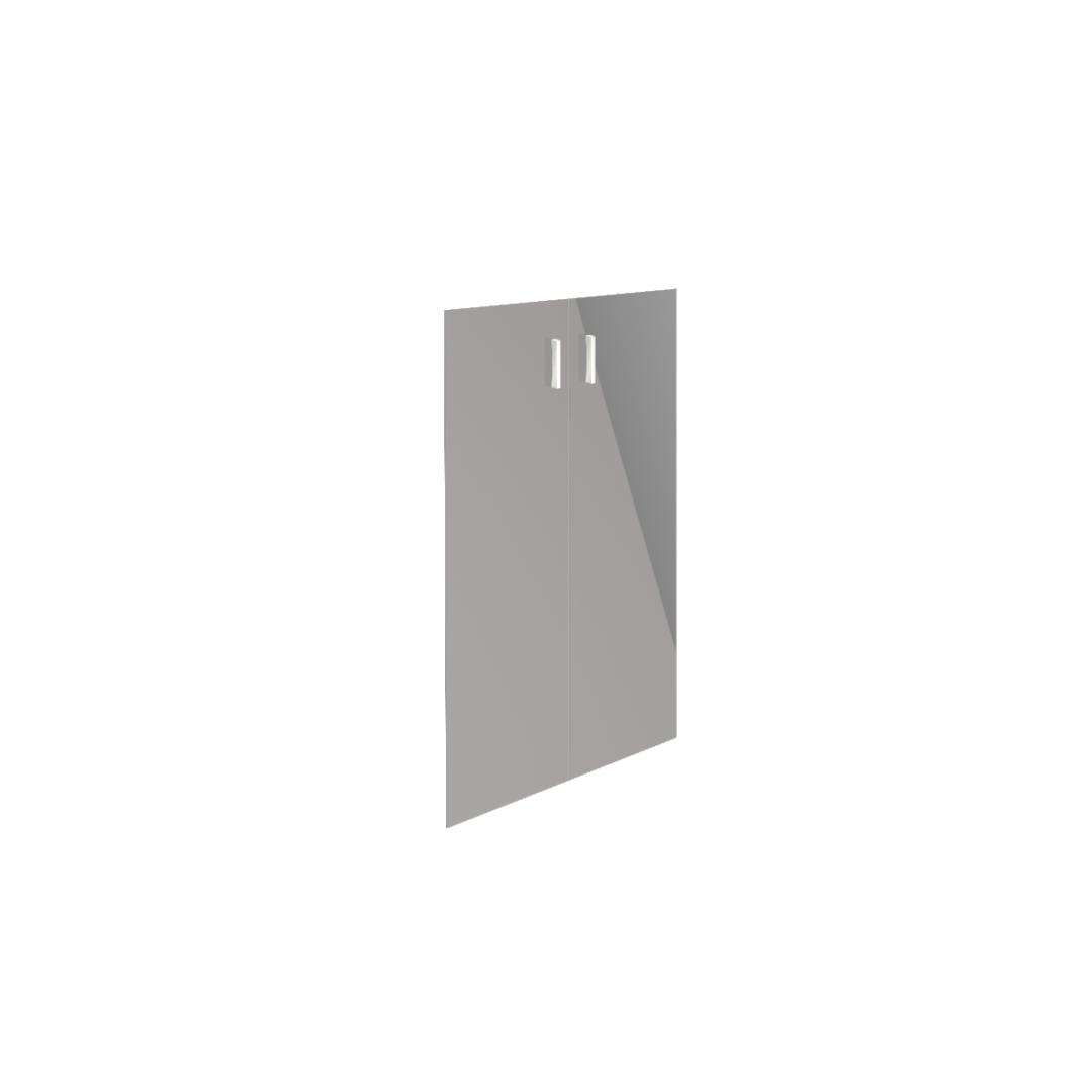 Двери стеклянные В-868 к широким стеллажам (2 штуки)