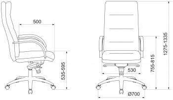 Кресло руководителя Бюрократ T-9927SL слоновая кость кожа крестовина металл хром