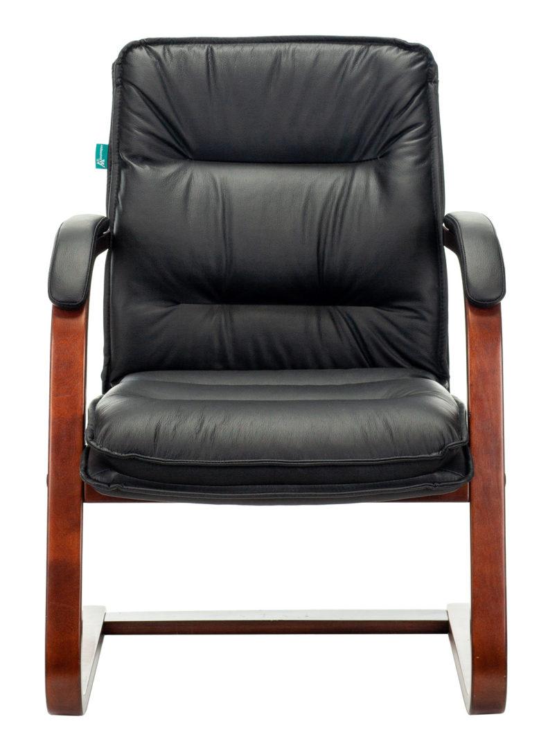 Кресло Бюрократ T-9927WALNUT-AV черный кожа полозья дерево