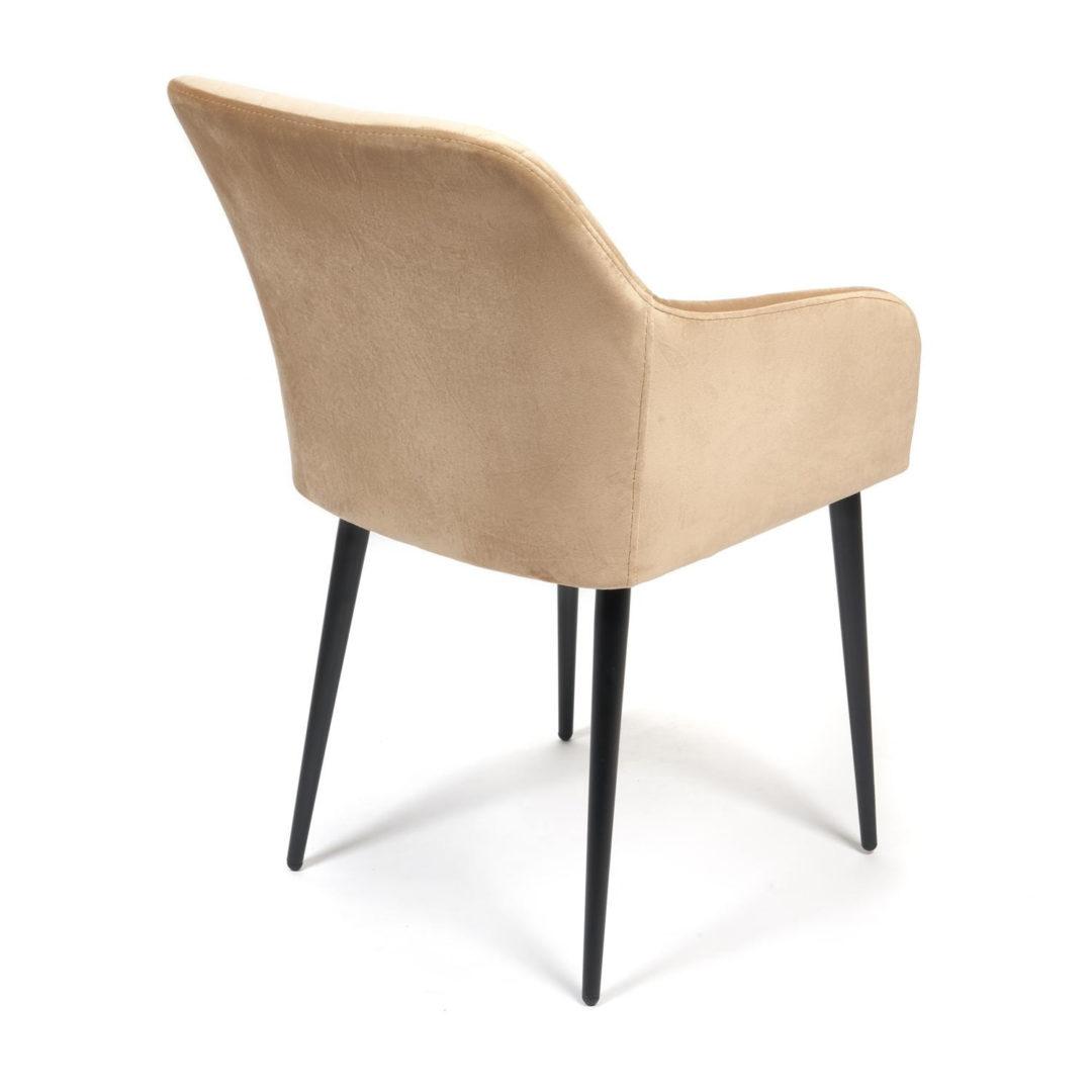Кресло BREMO (mod. 708) ткань/металл, 58х55х83 см, высота до сиденья 48 см, бежевый barkhat 5/черный