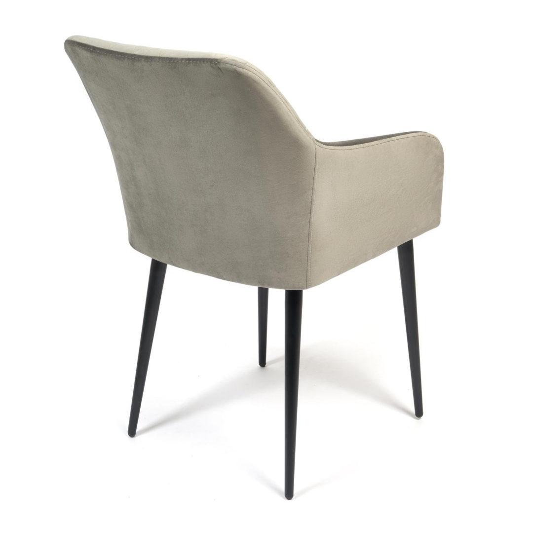 Кресло BREMO (mod. 708) ткань/металл, 58х55х83 см, высота до сиденья 48 см, серый barkhat 26/черный
