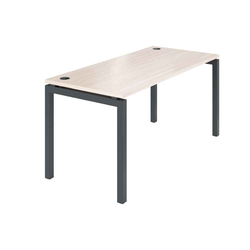 Стол на металлокаркасе АМ-004 1600x730x760 Ясень шимо