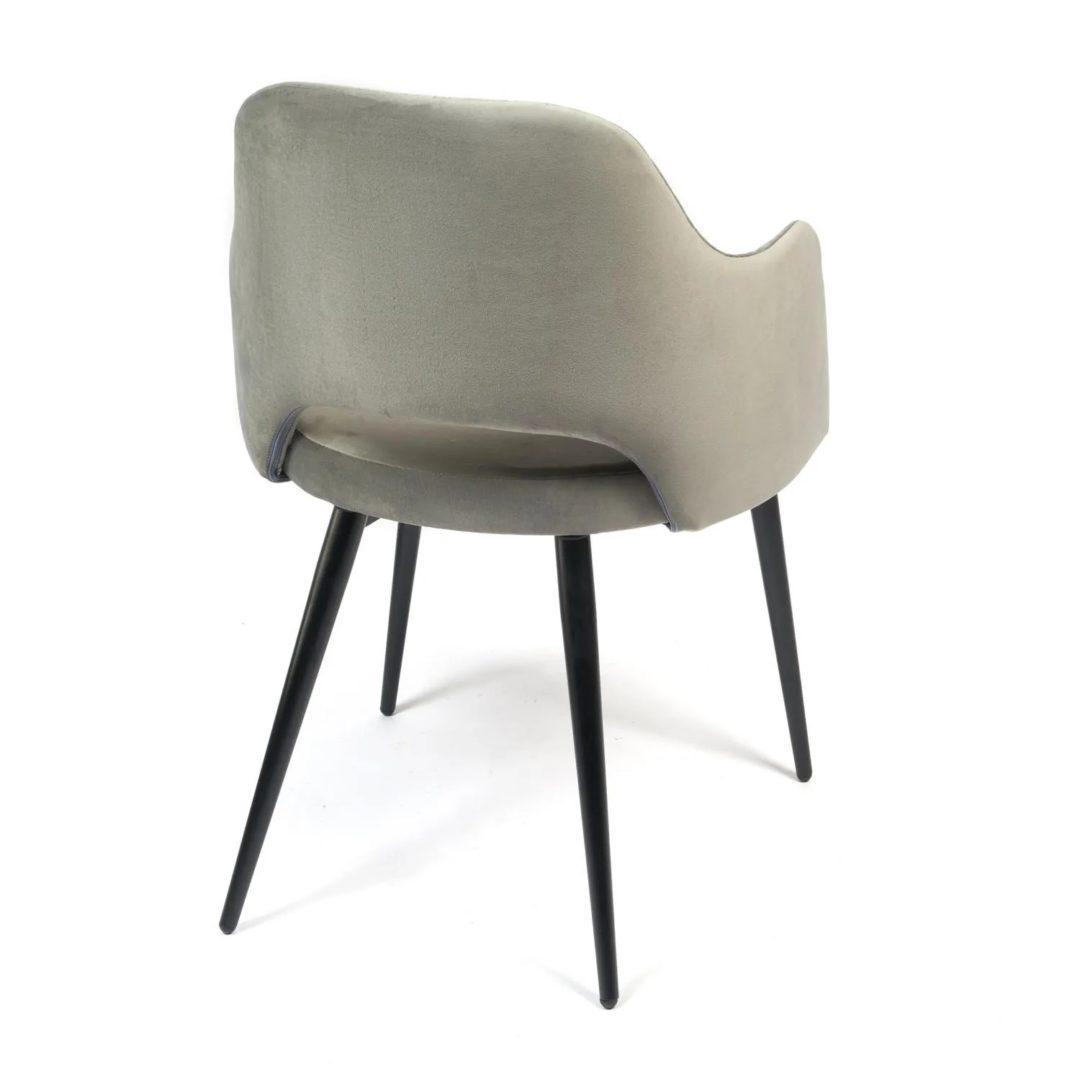 Кресло VALKYRIA (mod. 711) ткань/металл, 55х55х80 см, высота до сиденья 48 см, серый barkhat 26/черный