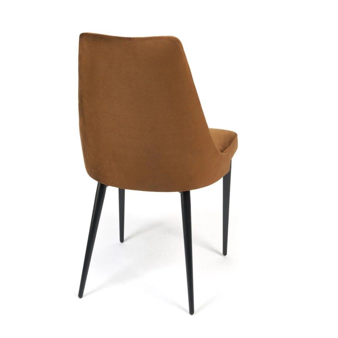 Стул LAVANDA (mod.712) ткань/металл, 55х55х92 см, высота до сиденья 50 см, коричневый barkhat 11/черный (14340)
