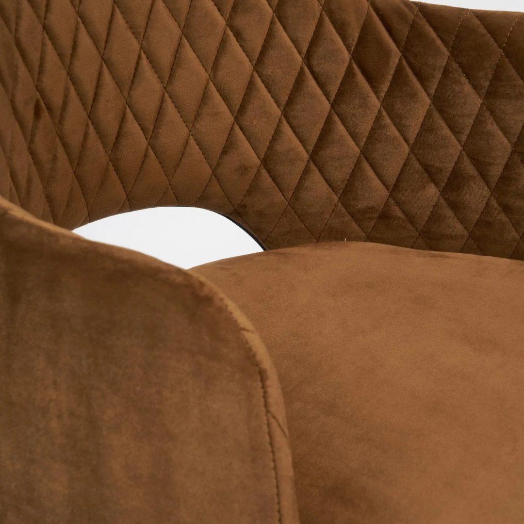 Кресло VALKYRIA (mod. 711) ткань/металл, 55х55х80 см, высота до сиденья 48 см, коричневый barkhat 11/черный