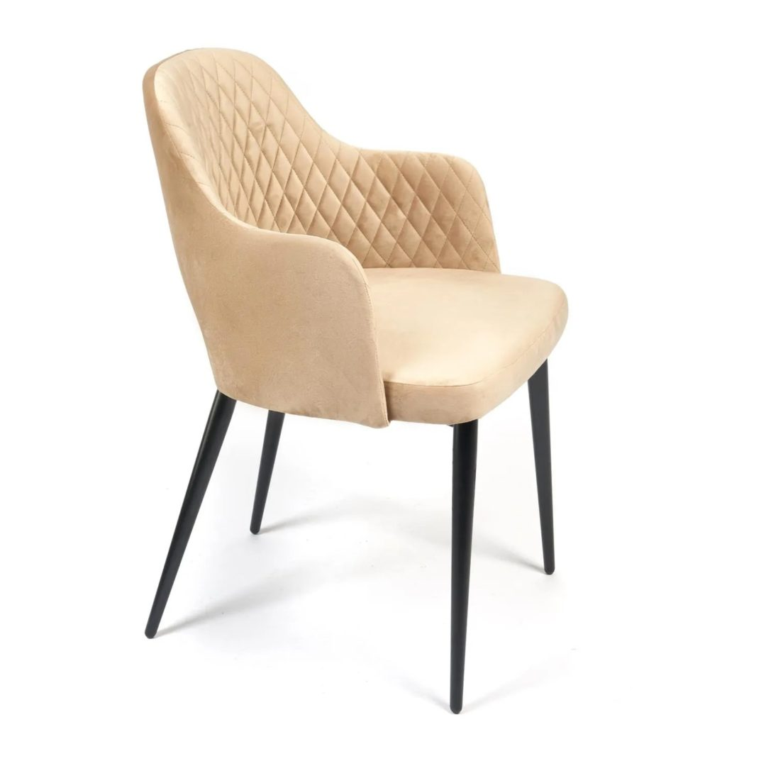 Кресло VALKYRIA (mod. 711) ткань/металл, 55х55х80 см, высота до сиденья 48 см, бежевый barkhat 5/черный