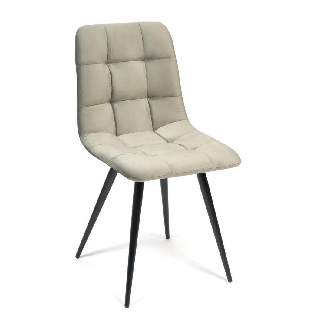 Стул CHILLY (mod. 7095) ткань/металл, 53х47х88 см, высота до сиденья 50 см, серый barkhat 26/черный (14323)