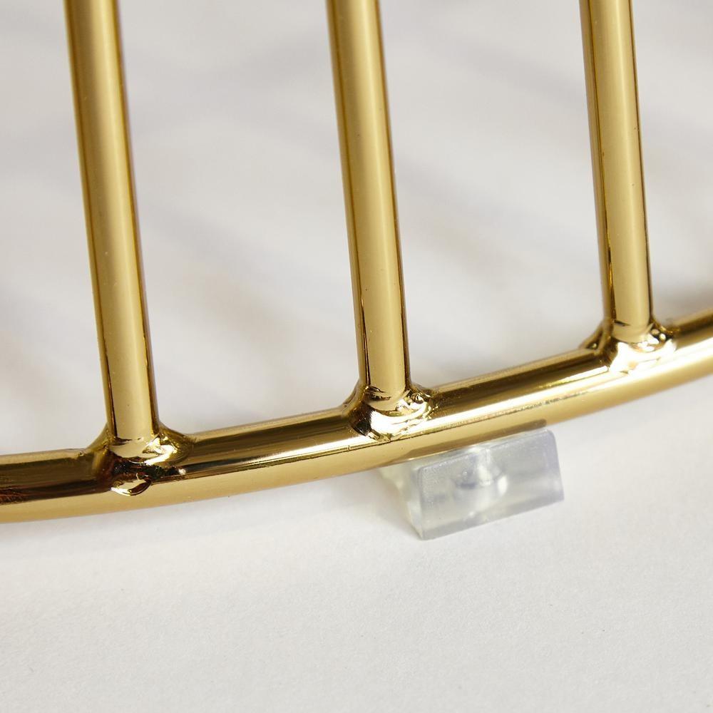 Стол ARGO ( mod. DT1471 ) металл/стекло, диаметр 80 см, высота 74,5 см, черный/золотой гальваник (13409)