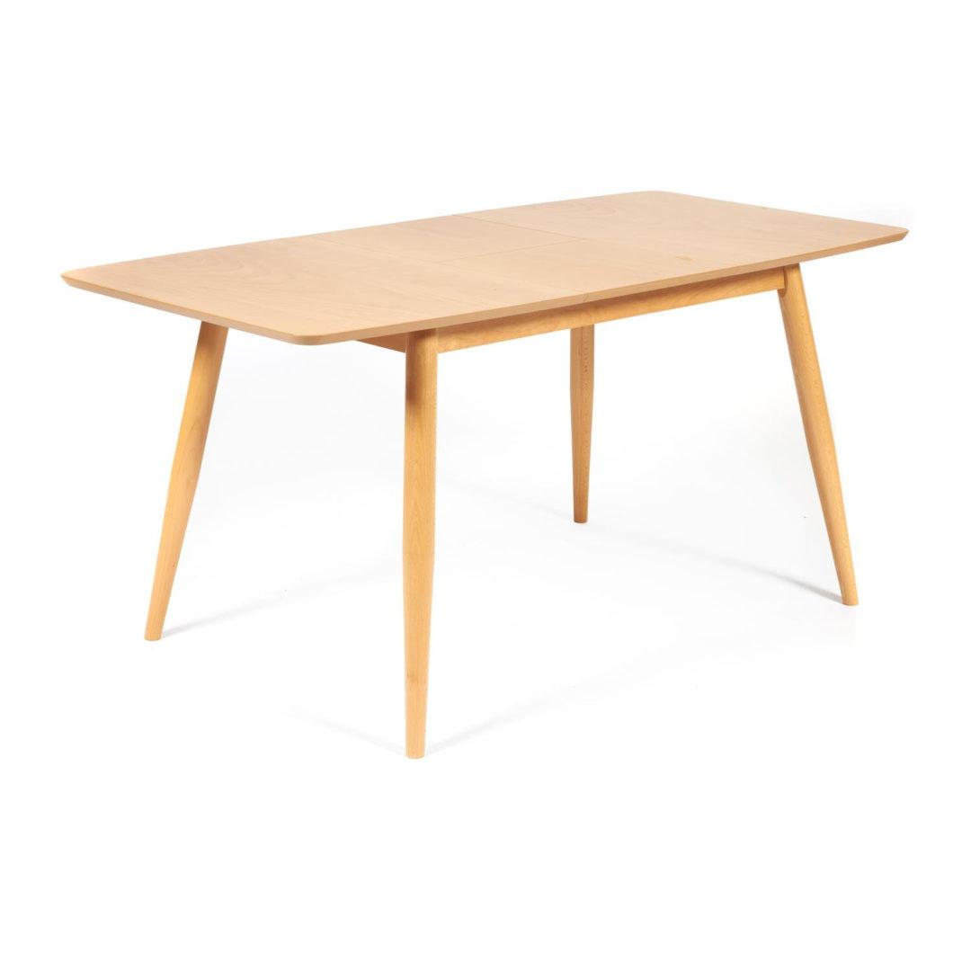 Стол раскладной Pavillion (Павильон) основание бук, столешница мдф, 80×120+40×75см, Натуральный (13982)