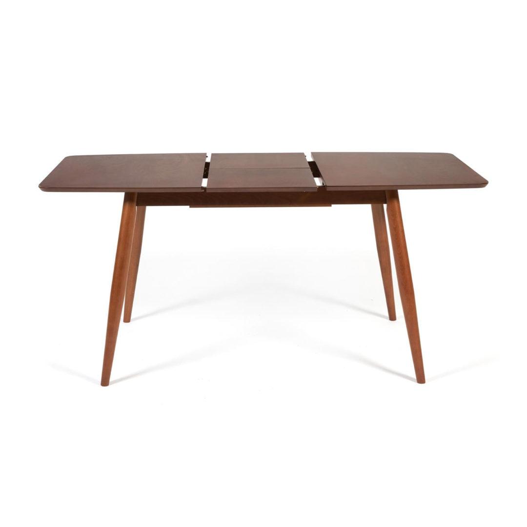 Стол раскладной Pavillion (Павильон) основание бук, столешница мдф, 80×120+40×75см, Коричневый (13981)