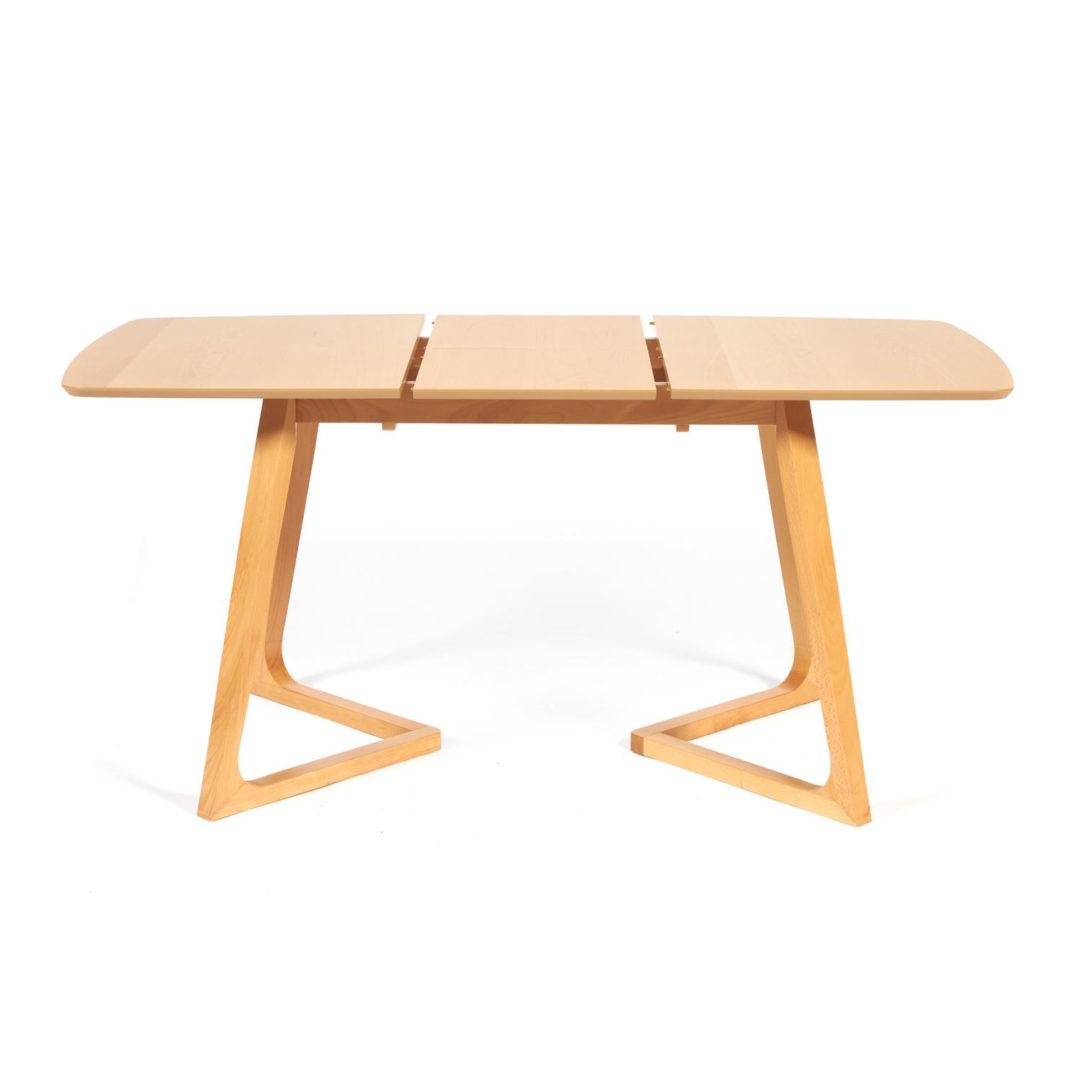 Стол раскладной VAKU (Ваку) основание бук, столешница мдф, 80×120+40×75см, Натуральный (13987)
