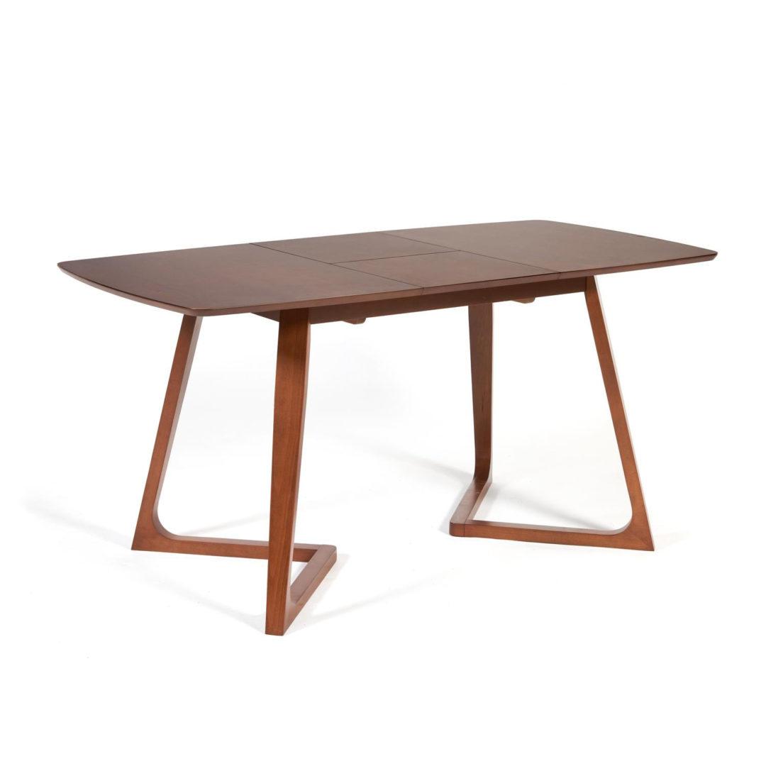 Стол раскладной VAKU (Ваку) основание бук, столешница мдф, 80×120+40×75см, Коричневый (13986)