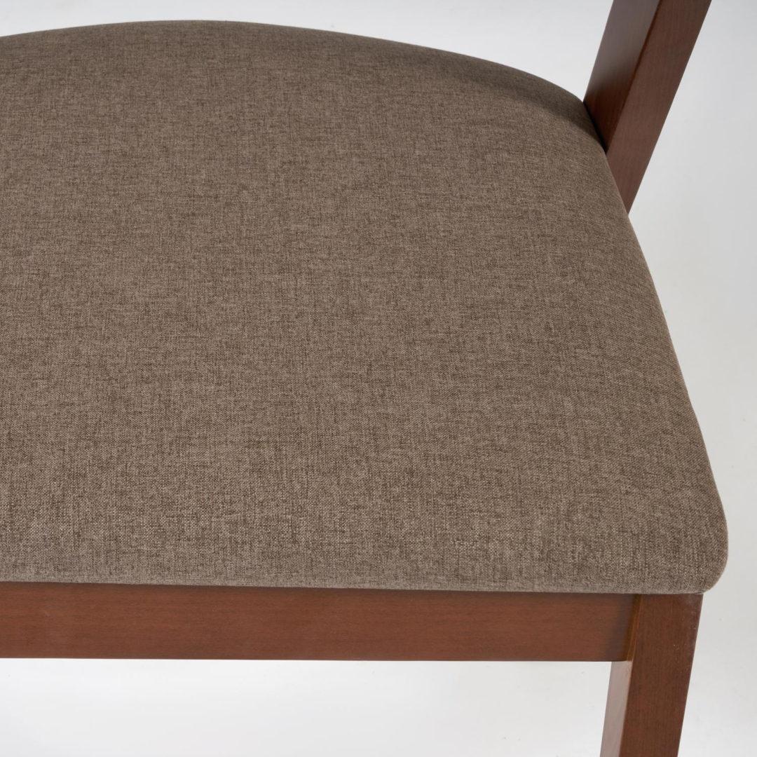 Стул мягкое сидение VERSA (Верса) каркас бук, сиденье ткань, 54,5*56*74см, Коричневый (13988)