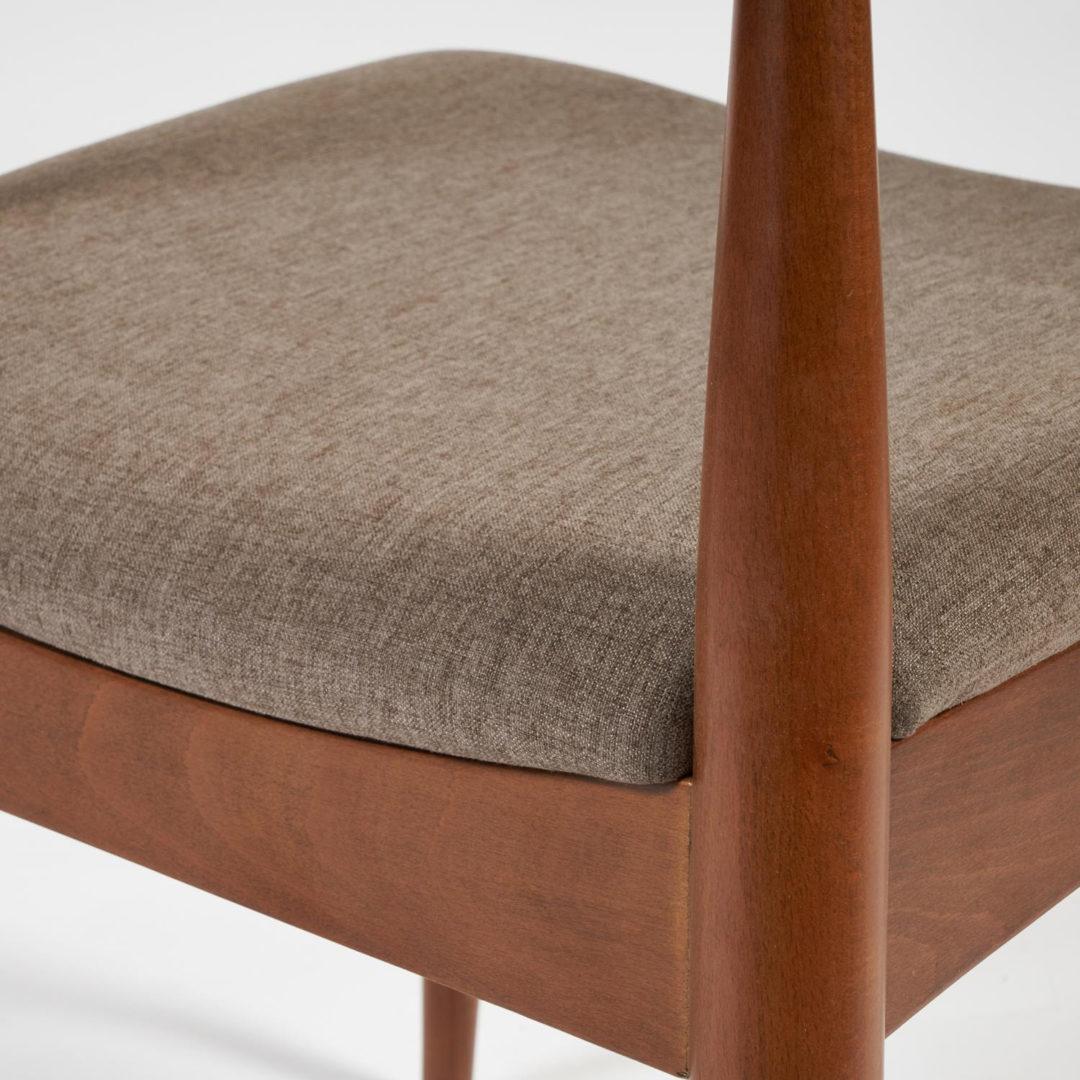Стул мягкое сидение BULL каркас бук, сиденье ткань, 54,5*54*75см, Коричневый (13983)