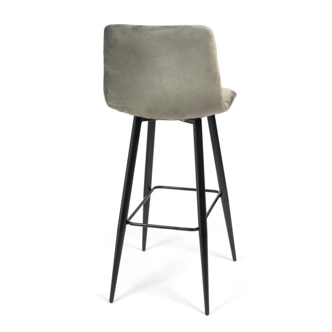 Стул барный chilly (mod.7095) ткань/металл, 50х44х104 см, высота до сиденья 76 см, серый barkhat 26/черный
