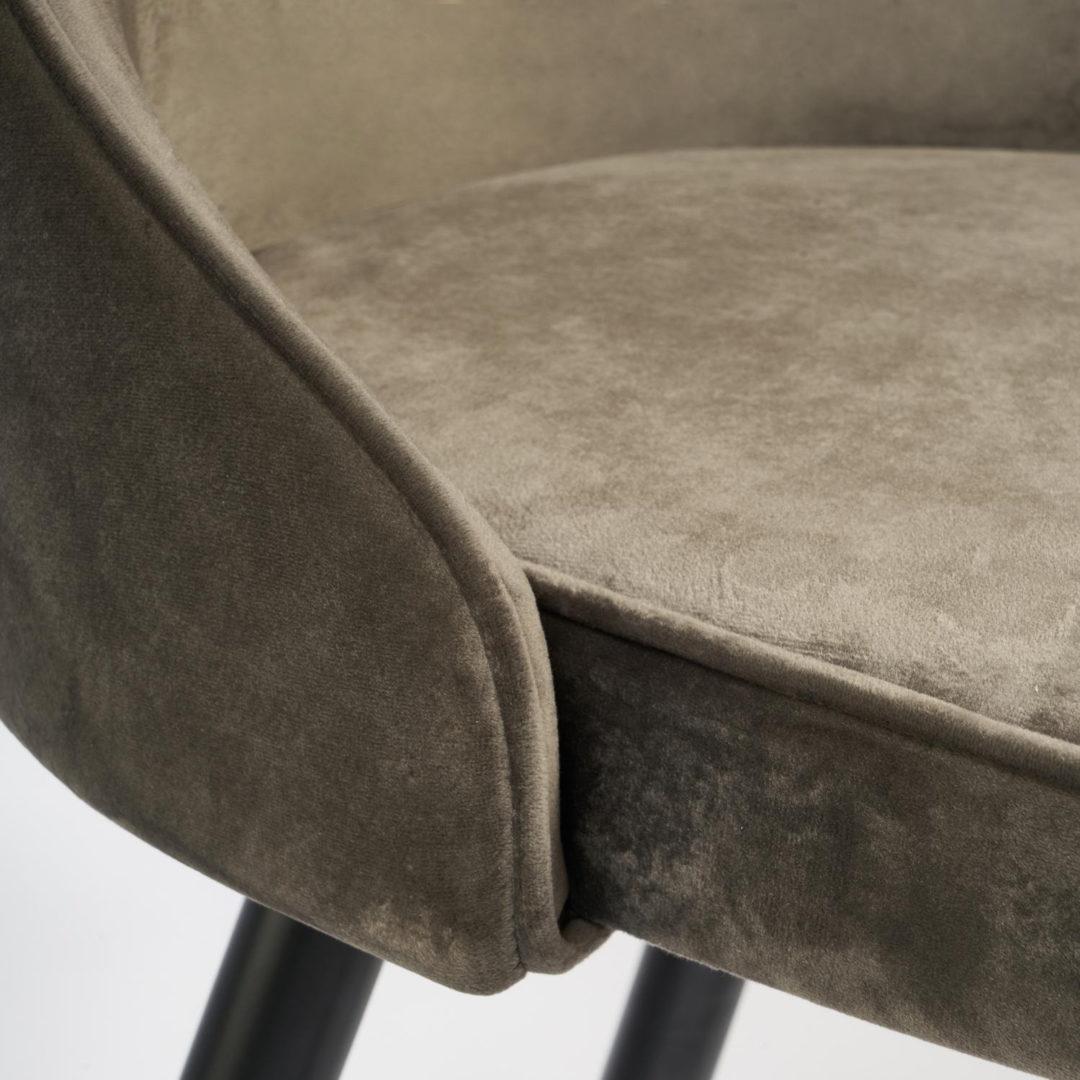 Стул барный kish (mod. 714) ткань/металл, 50х57х110 см, высота до сиденья 78 см, темно-серый barkhat 14/черный