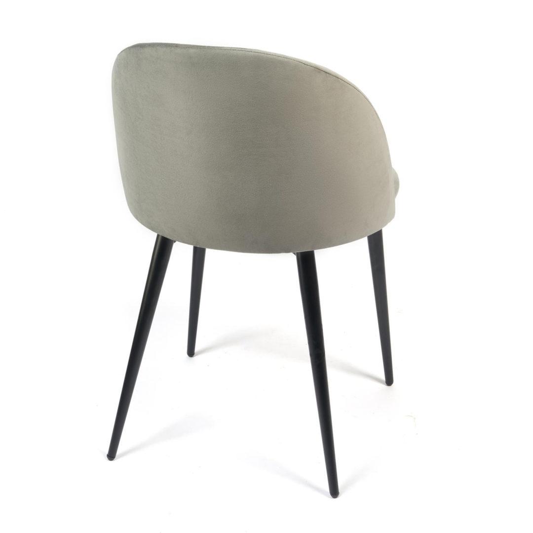 Стул MONRO (mod. 710) ткань/металл, 56х51х80 см, высота до сиденья 47 см, серый barkhat 26/черный (14328)