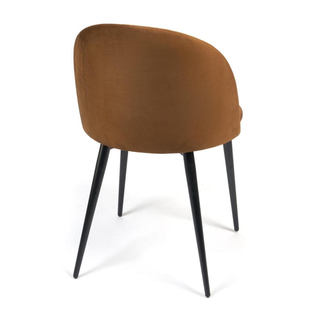 Стул MONRO (mod. 710) ткань/металл, 56х51х80 см, высота до сиденья 47 см, коричневый barkhat 11/черный (14330)