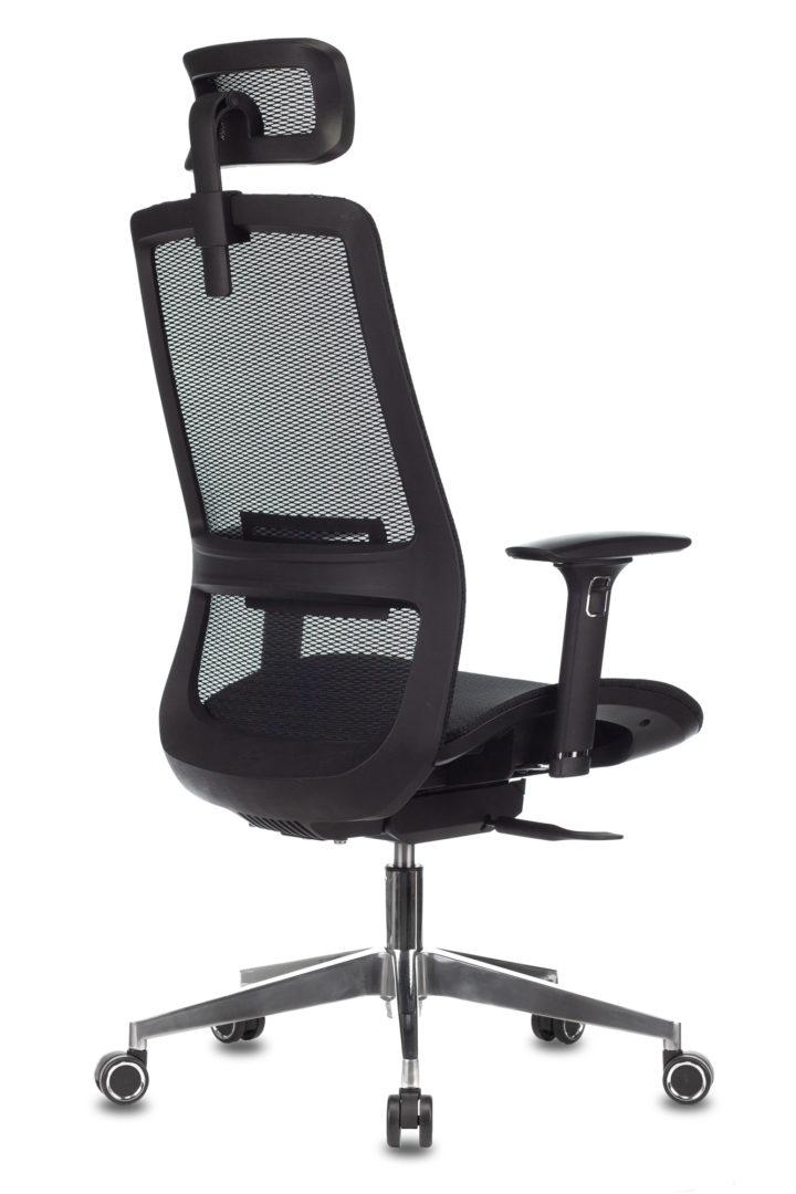 Кресло руководителя Бюрократ 821 черный сетка с подголов. крестовина алюминий