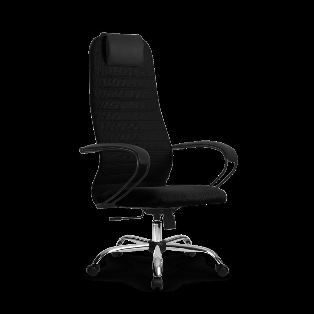 Кресло SU-BP-10, цвет черный , крестовина хром
