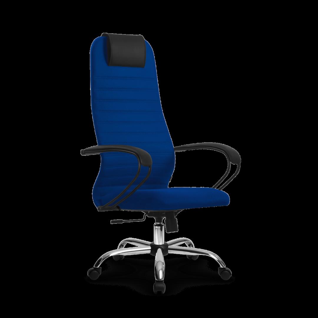 Кресло SU-BP-10, цвет синий , крестовина хром