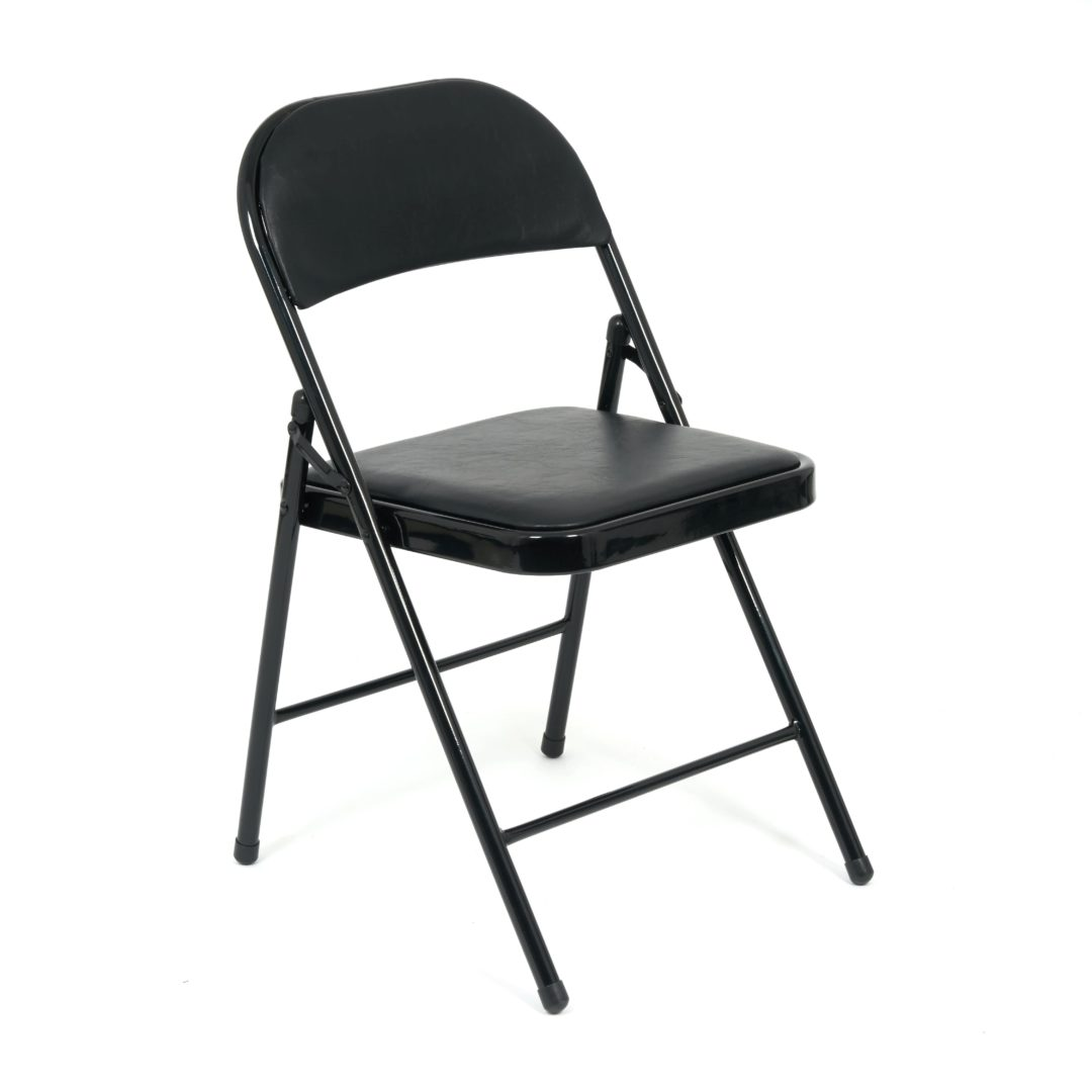 Стул складной Secret De Maison FOLDER (mod. 032) каркас: металл, сиденье/спинка: экокожа, 41*51*76см, черный (14100)