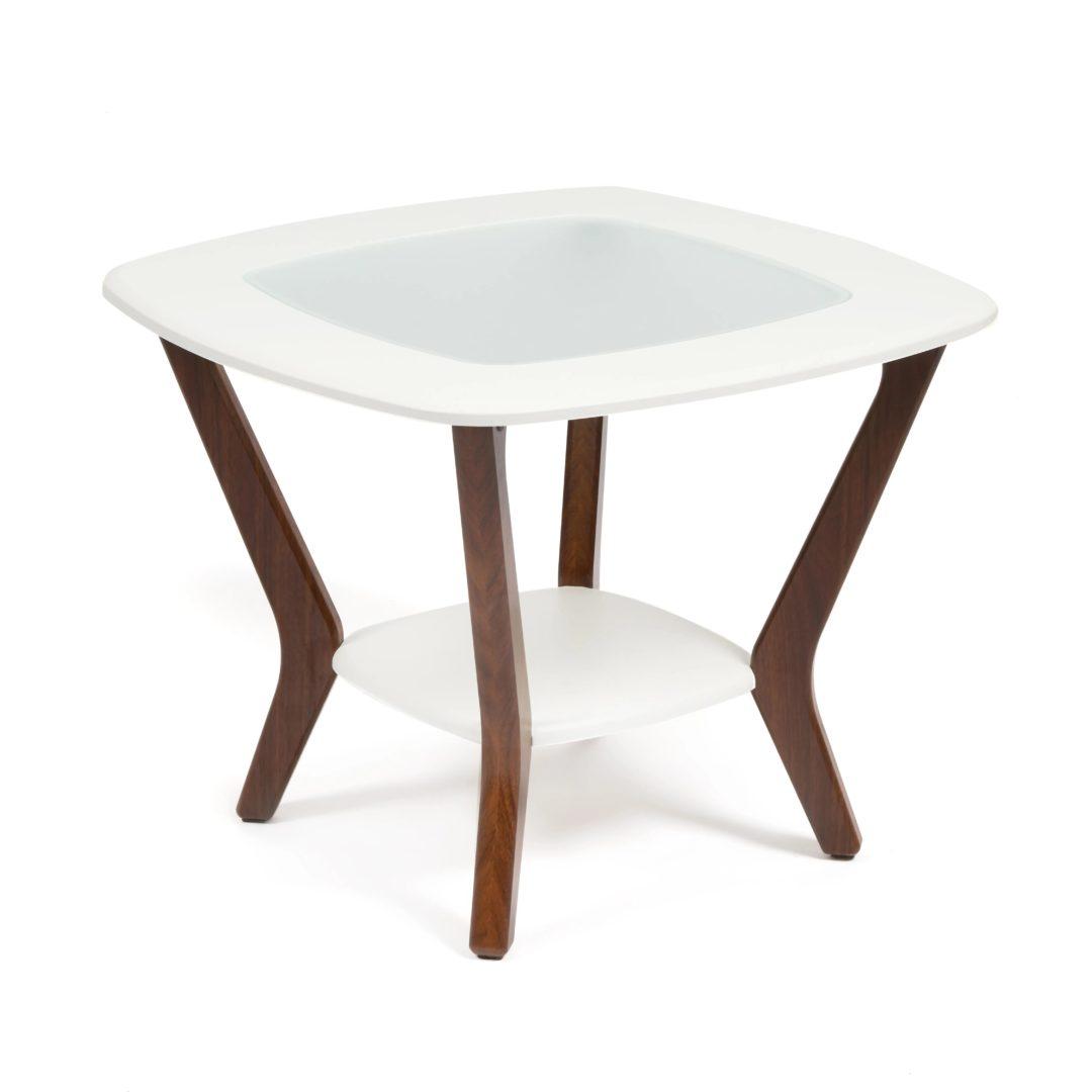 Стол журнальный GOODWIN МДФ/дерево, 65*65*50 см, белый (14405)