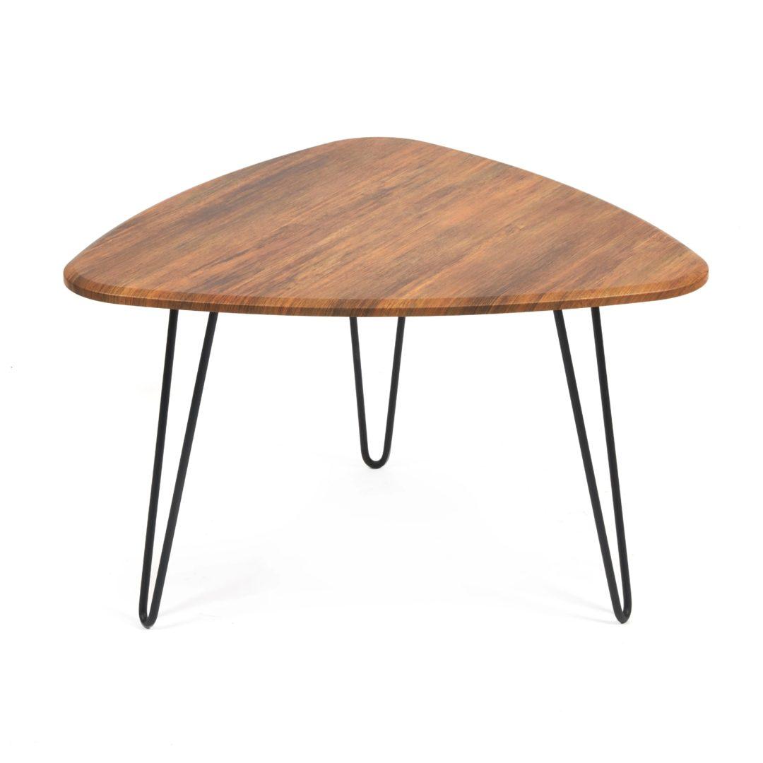 Стол журнальный SODUS МДФ/металл, 70*73*45 см, Дуб Американский (ножки черные) (14420)