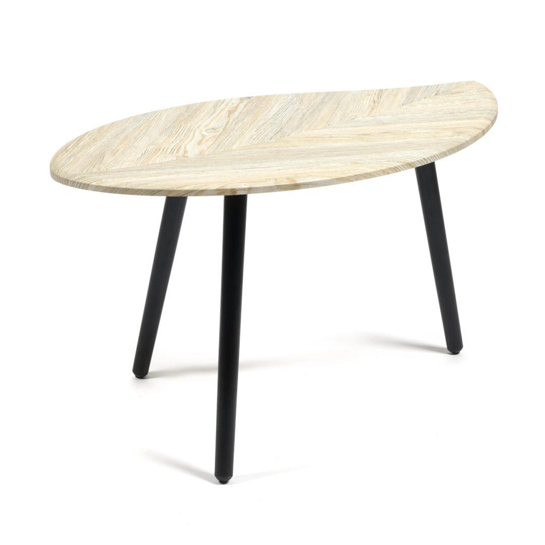 Стол журнальный BARKLY МДФ/дерево, 90*50*47 см, Скания натуральная (ножки черные) (14409)