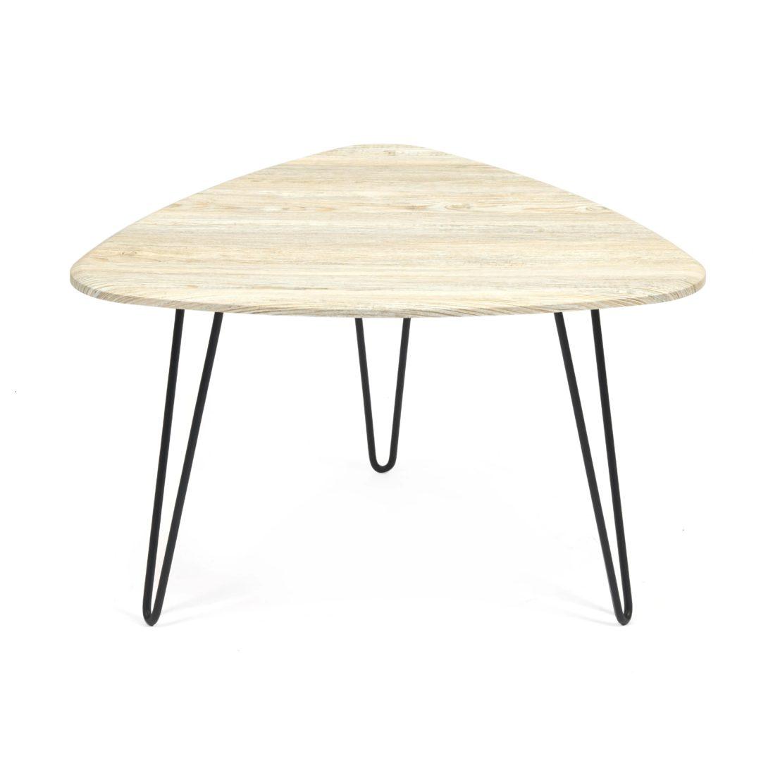 Стол журнальный SODUS МДФ/металл, 70*73*45 см, Скания натуральная (ножки черные) (14418)
