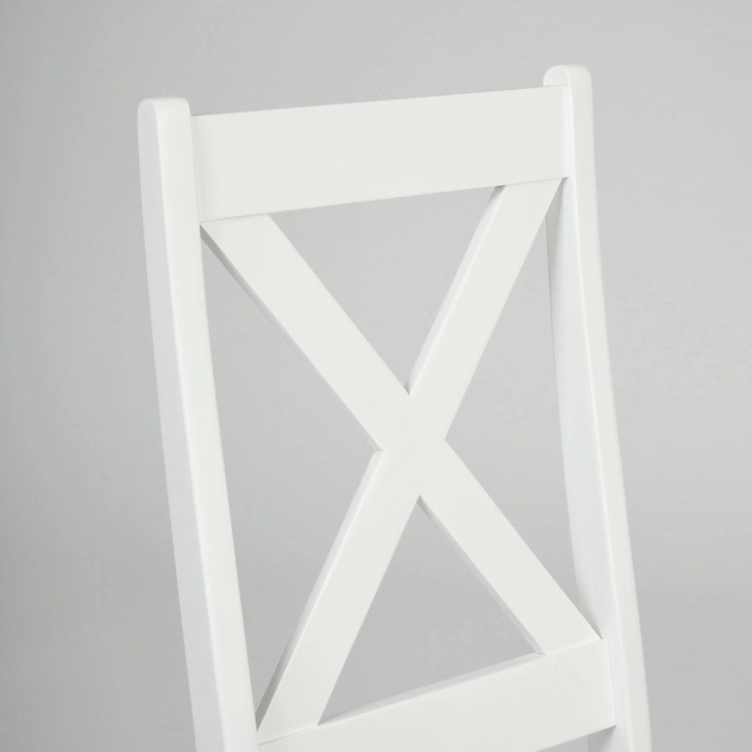 Стул CROSSMAN Многослойная фанера, 100*41*40, white, ткань серая (16/1) (15008)
