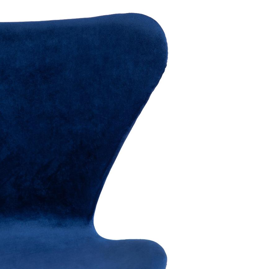 Стул Jacobsen SOFT (mod DC 103) / 1 шт. в упаковке металл/флок, 59×45.5×84.5, синий (15416)