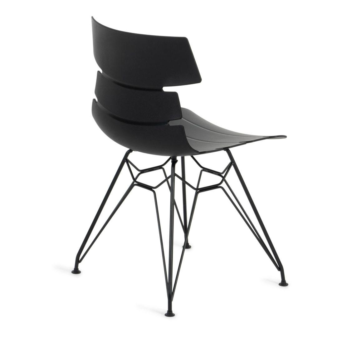 Стул HANSEN (mod. 622N) пластик/металл, 51х47х80 см, высота до сиденья 45 см, черный/черный (14305)
